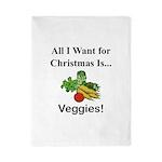 Christmas Veggies Twin Duvet