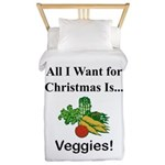 Christmas Veggies Twin Duvet