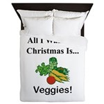 Christmas Veggies Queen Duvet
