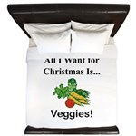 Christmas Veggies King Duvet