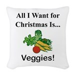 Christmas Veggies Woven Throw Pillow