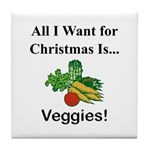 Christmas Veggies Tile Coaster