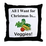 Christmas Veggies Throw Pillow