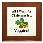 Christmas Veggies Framed Tile