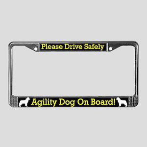 Siberian Husky Agility Dog License Plate Frame