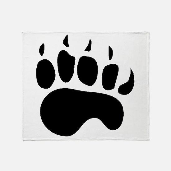 Bear Paw Silhouette Throw Blanket