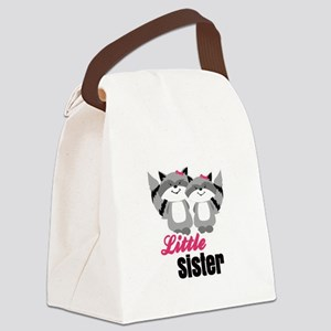Raccoons Little Sister Canvas Lunch Bag