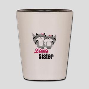 Raccoons Little Sister Shot Glass