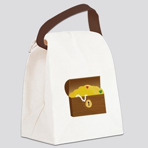 Treasure Chest Canvas Lunch Bag