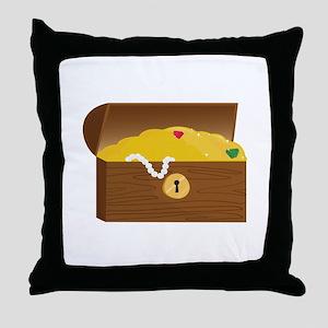 Treasure Chest Throw Pillow