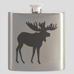 Moose Silhouette Flask