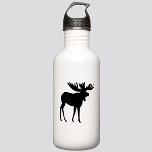 Moose Silhouette Water Bottle