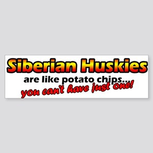 Potato Chips Siberian Husky Bumper Sticker