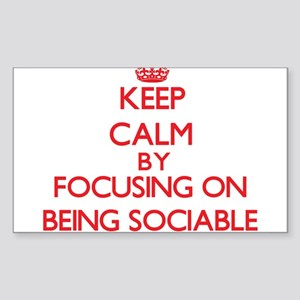 Being Sociable Sticker