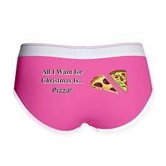Christmas Pizza Women's Boy Brief