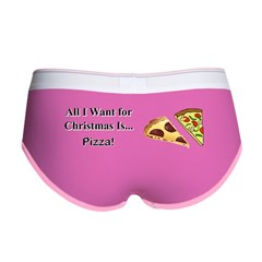 Christmas Pizza Women's Boy Brief