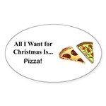 Christmas Pizza Sticker (Oval 10 pk)