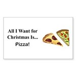 Christmas Pizza Sticker (Rectangle 50 pk)