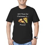 Christmas Pizza Men's Fitted T-Shirt (dark)