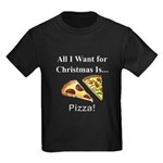 Christmas Pizza Kids Dark T-Shirt