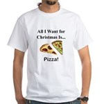 Christmas Pizza White T-Shirt