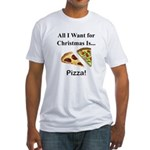 Christmas Pizza Fitted T-Shirt
