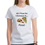 Christmas Pizza Women's T-Shirt