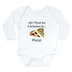 Christmas Pizza Long Sleeve Infant Bodysuit