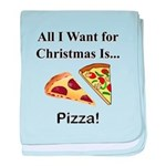 Christmas Pizza baby blanket