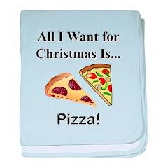 Christmas Pizza baby blanket