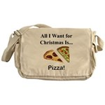 Christmas Pizza Messenger Bag