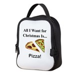 Christmas Pizza Neoprene Lunch Bag
