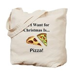 Christmas Pizza Tote Bag