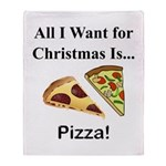 Christmas Pizza Throw Blanket