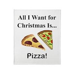 Christmas Pizza Throw Blanket