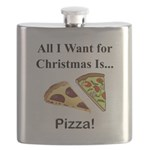 Christmas Pizza Flask