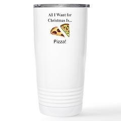 Christmas Pizza Stainless Steel Travel Mug