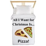 Christmas Pizza Twin Duvet