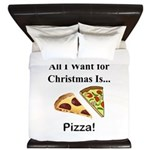 Christmas Pizza King Duvet