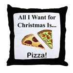 Christmas Pizza Throw Pillow