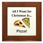 Christmas Pizza Framed Tile