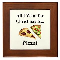 Christmas Pizza Framed Tile