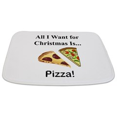 Christmas Pizza Bathmat