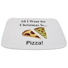 Christmas Pizza Bathmat