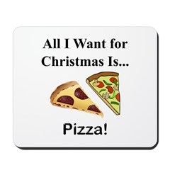 Christmas Pizza Mousepad