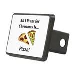 Christmas Pizza Rectangular Hitch Cover