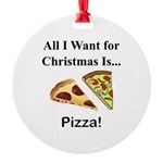 Christmas Pizza Round Ornament