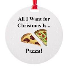 Christmas Pizza Ornament