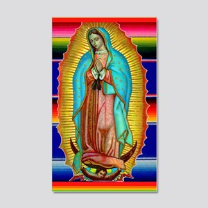 Guadalupe Tilma Virgin Mary 20x12 Wall Decal
