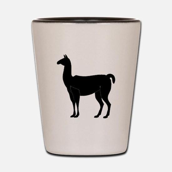 Llama Silhouette Shot Glass